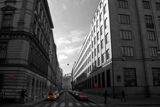 The Streets of Prague - Colour Composite Canvas Print