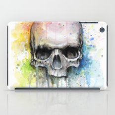 Skull Watercolor Painting iPad Case