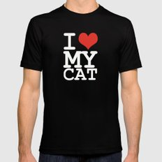 I love my cat Mens Fitted Tee Black SMALL
