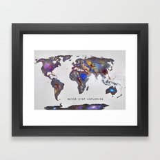 Star Map. Never Stop Exp… Framed Art Print