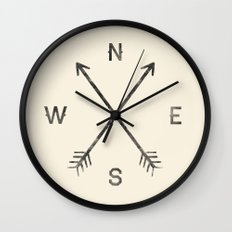 Compass (Natural) Wall Clock