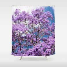 Jacaranda Tree Shower Curtain