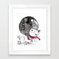 Wishing You A Merry Chri… Framed Art Print