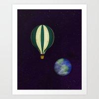 Vintage Space Ship Art Print