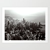 Chicago Skyline (tilt-shift) Art Print