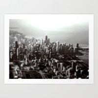 Chicago Skyline (tilt-sh… Art Print