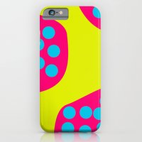 iPhone & iPod Case featuring Green Purple Dots by akamundo