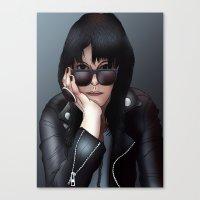 Alison Mosshart (The Kills) Canvas Print