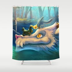 Old River Shower Curtain
