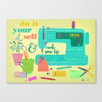 DIY-create Your Life-201… Canvas Print