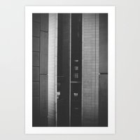 The space in-between Art Print