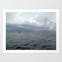 Storm, Ocean Buoy, Atlantic Art Print