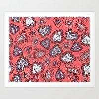 Love & heart Art Print