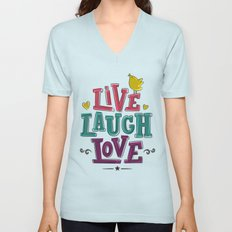 live laugh love Unisex V-Neck