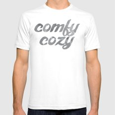 comfy cozy Mens Fitted Tee SMALL White