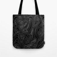 Ocean Depth Map - Black Tote Bag