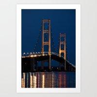 The Mackinaw Bridge At N… Art Print