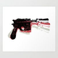 Blaster (Right) Art Print