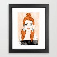 Red-haired girl Framed Art Print