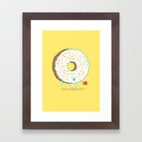 The Sleepy Donut Framed Art Print