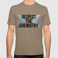 Respect The Chemistry Mens Fitted Tee Tri-Coffee SMALL