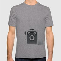 Box Camera Retro - Photographer Mens Fitted Tee Athletic Grey SMALL