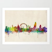 London Skyline Watercolo… Art Print