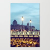 Paris At Night: Pont Neu… Canvas Print