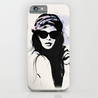 iPhone & iPod Case featuring Infatuation - Digital Fashion Illustration by Allison Reich