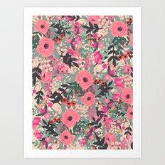 Flower jungle Art Print