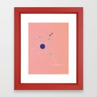 You Charge My Particles Framed Art Print