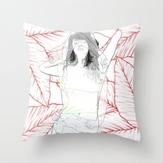 RED STRIP (combine series) Throw Pillow