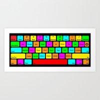 RPG Villian Keyboard Art Print