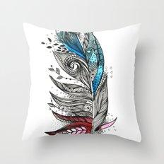 Garden Feather Throw Pillow