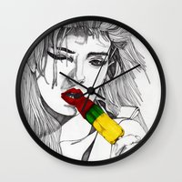 ICE LOLLY GIRL Wall Clock