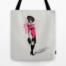 Pink Dress - Fashion Illustration Tote Bag