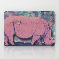 Pink Rhinoceros Collage iPad Case