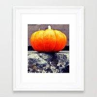 Framed Art Print featuring Urban pumpkin by Vorona Photography