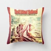 Rock Island Railroad Poster Throw Pillow