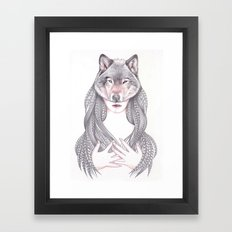 Wolf Heart Framed Art Print