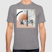 Collage II ( marble, copper, volcanic rock) Mens Fitted Tee Tri-Grey SMALL