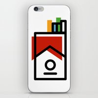cigarette pack minimal iPhone & iPod Skin