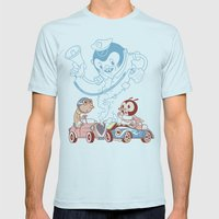 CrashBoomBang Mens Fitted Tee Light Blue SMALL