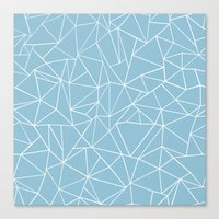 Abstraction Outline Sky Blue Canvas Print