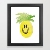 Just Mr. Pineapple Framed Art Print