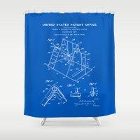 Playground Patent - Blueprint Shower Curtain