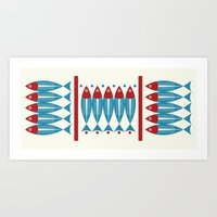 Red Fish, Blue Fish Art Print