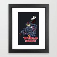 THE world series Framed Art Print