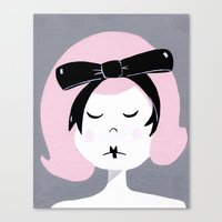 Eloise, pretty in pink Canvas Print