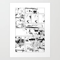 MUMBLE MUMBLE Page 1 Art Print